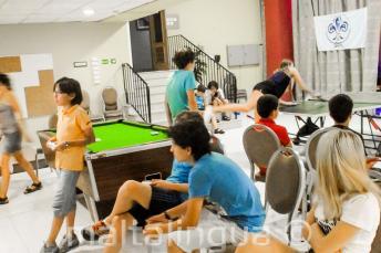 Sprachschüler im Spielzimmer der Residenz