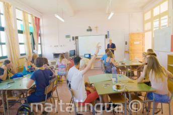 Klassenzimmer im Sommercampus