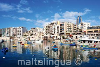 Foto der Spinola Bay, St Julians
