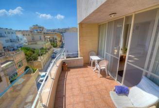 Balcony der Unterkunft der Englisch Sprachschule in Malta, St. Julians
