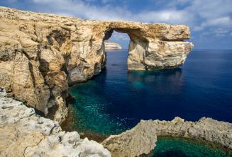 Sicht auf das the Azure Window auf Gozo