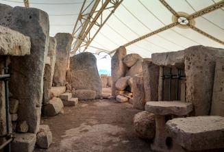 Die prähistorischen Tempel in Ħaġar Qim
